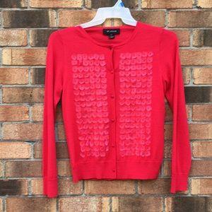 St. John cardigan sweater w/paillettes S